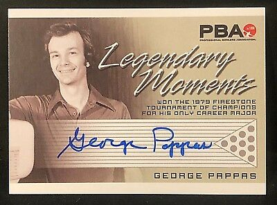 GEORGE PAPPAS 2008 Rittenhouse PBA Bowling AUTOGRAPH Legendary Moments AUTO Card