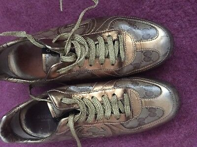 LADIES GUCCI GG TRAINERS Size 6.5 used