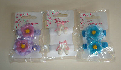 Set of 3 Pairs of hair bobbles/ Elastics