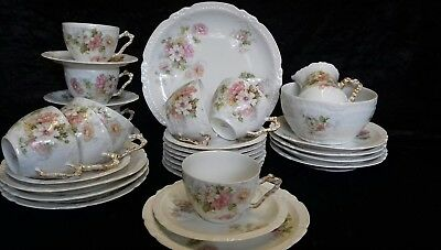 Vintage Limoges Tea Service For 6