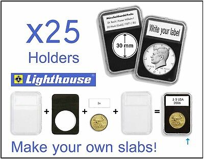 Copper Round Holders 15 Lighthouse EVERSLAB 39mm Graded Coin Slabs 1oz Silver