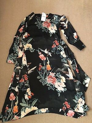 ZARA BNWT Floral midi Dress UK XS  sold out in stores