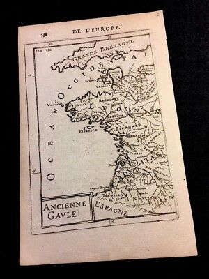 Ancient Gaul Map 1638 Gallic Tribes And Roman Towns