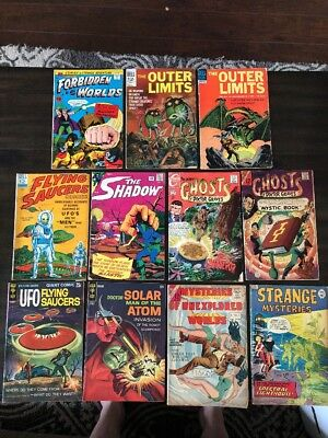 Lot Of 11 Science Fiction Comics Silver Age Dell Gold Key Charlton Vg