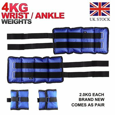 4KG Heavy Duty Wrist Ankle Weights Exercise Fitness Gym Stength Training 1 Pair