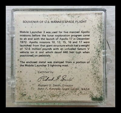 Souvenir U.S. Manned Space Flight Metal from Mobile Launcher 3