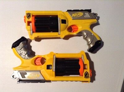 Nerf N-Strike Maverick Rev-6 Lot Of 2 Soft Dart Blasters