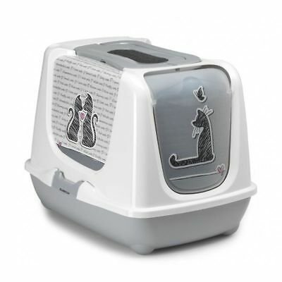 Moderna Hooded cat loo enclosed Cat In Love litter tray toilet box