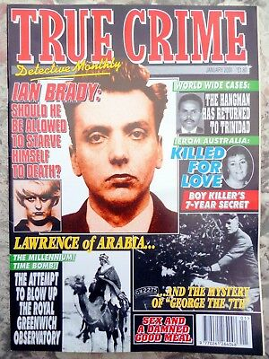 True Crime Detective Monthly January 2000. 51 Pages. New Condition.