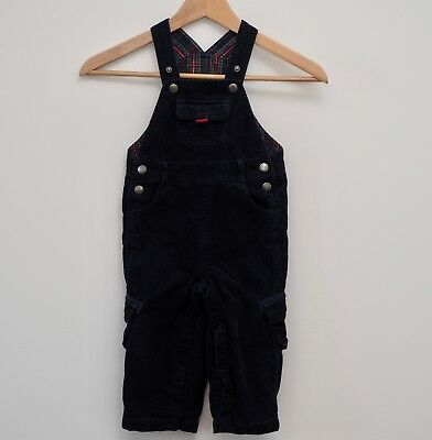 JoJo Maman Bebe dungarees age 18-24 months navy blue cord corduroy baby boys