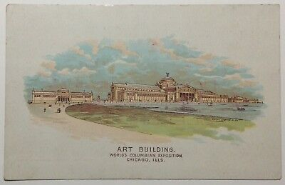 World's Columbian Exposition Postcard Size Trade Advertising Card 1893