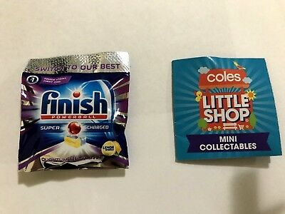 Coles Little Shop Mini Collectables FINISH Powerball