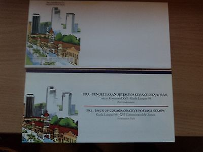 Malaysia 1994 29 Oct Presentation Pack PreIssue 16th Commonwealth Games(1) KL 98