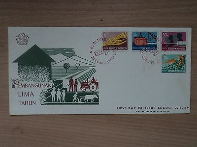 Indonesia 1969 17 Aug FDC 5 Year Plan definitives