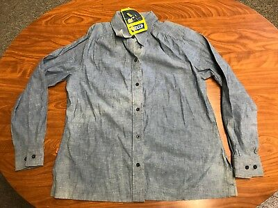 Womens Vintage New With Tags 70's Levi Strauss Orange Tab Chambray Shirt Size 40