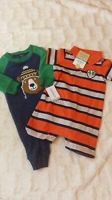 53167b785 CARTERS BABY BOY Fleece Polar Bear Pajamas Sleeper Size Newborn 3 ...