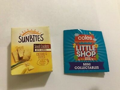 Coles Little Shop Mini Collectables SUNBITES