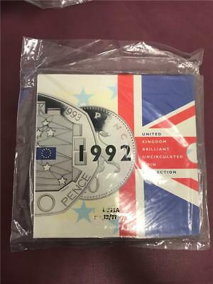 1992 Brilliant Uncirculated Coin Collection by Royal Mint in Original Plastic