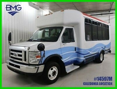 Ford E-Series Van E-450 Handicap Accessible Shuttle Bus One Owner 13 Passenger Econoline E-450 6.8L V10 Government Owned Wheel chair Cutaway Cab Chassis