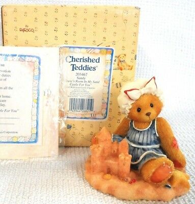 1996 Cherished Teddies Sandy There's Room In My Sand Castle For You.
