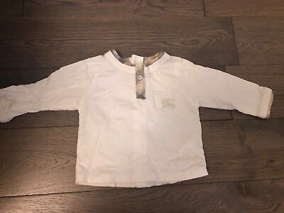 Lovely Burberry Baby Long Sleeved Top Size 6 Months