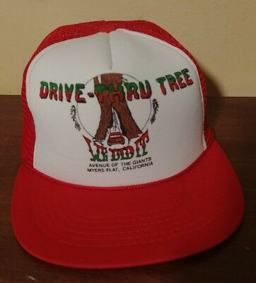Vintage Red California Drive-Thru Tree Mesh Trucker Hat Snapback Cap 90 s  RARE 25ba8ace8190