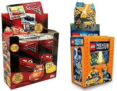 45 x Lego Nexo Knights Stickertüten (225 Sticker)+ 70 Trading Cards Disney Cars3