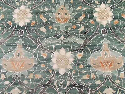 William Morris Curtain Fabric 'MONTREAL' 0.5 METRES (50cm) Forest/Teal Velvet