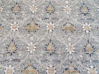 William Morris Curtain Fabric 'MONTREAL' 0.5 METRES (50cm) Grey/Charcoal Velvet