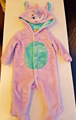 0-3 month baby girl John Lewis Unicorn fleecy onsie, winter all-in-one outfit