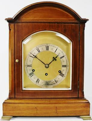 Antique Musical Westminster Chime Bracket Clock - 8 Day Musical Clock By Kienzle