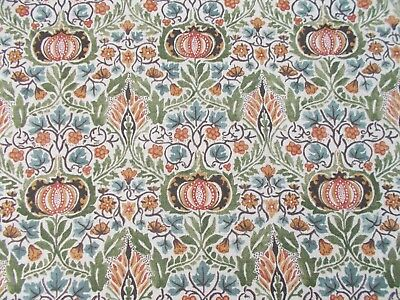 William Morris Curtain Fabric 'LITTLE CHINTZ' 2.5 METRES Olive/Ochre - Linen Mix