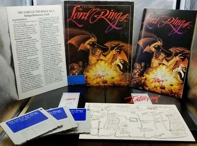 AMIGA THE LORD OF THE RINGS Game RARE VINTAGE J.R.R. Tolkien's RETRO Commodore