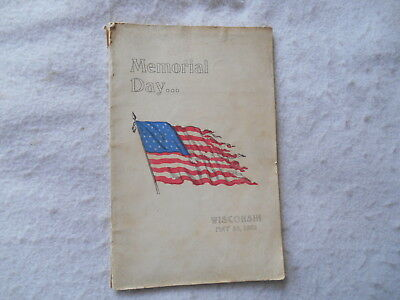 MEMORIAL DAY WISCONSIN SCHOOLS  May 30, 1902 - Rock County Wi - Pres. McKinley
