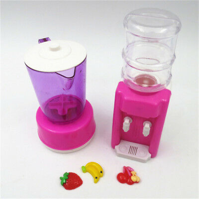 Doll Plastic Juicer Water Dispenser Set For Barbie Kitchen Accessories Nice DE