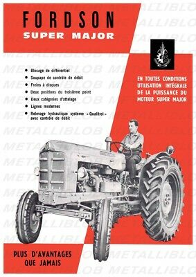 FORDSON Super Major French Tractor Advertising - Poster (A3) - NEW