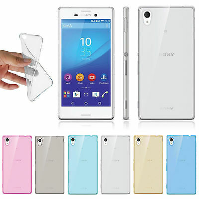 Soft Clear Silicone TPU Transparent Cover Case For SONY XPERIA Z3 Shockproof