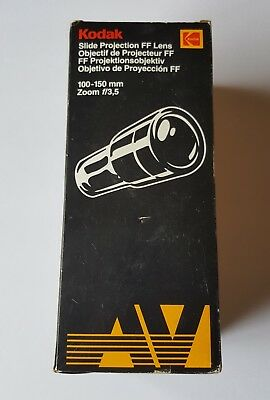 Kodak Slide Photo Projector Lens: 100-150mm (for FF) GREAT CONDITION/FREE SHIP