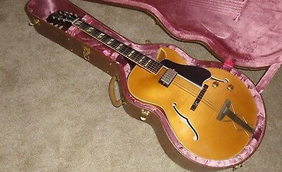 Gibson Es175 Single Pickup Memphis 1959 Natural Blonde W Brown Case