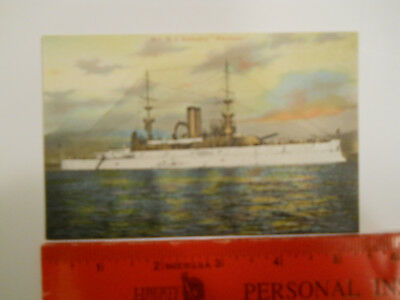 USS Wisconsin Vintage Postcard Circa 1905 Great White Fleet PLEASE VIEW PICS