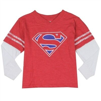 NWT Baby Boy Superman Long Sleeve T-shirt size 12M, 18M, 2T, 3T, and 4T