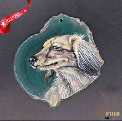 Hand Painted Dog Creative Necklace Pendant Necklace D1906 0840