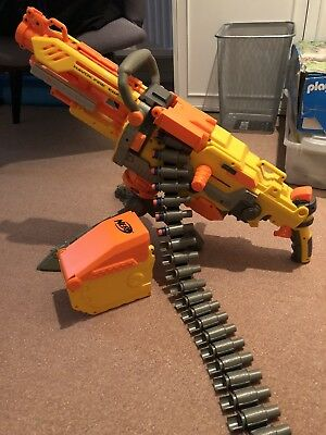 Nerf Havok Fire Vulcan Ebf - 25 Machine Gun 100% Complete - Excellent Condition