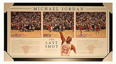 NBA -  Michael Jordan -The Last Shot - Framed Historic Print - Ready to Hang