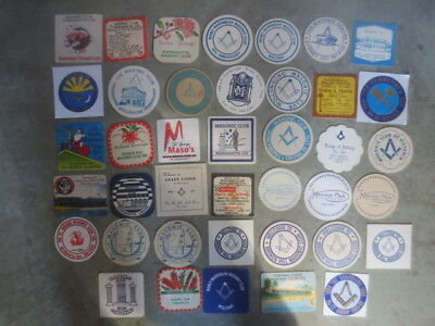 40 different  MASONIC Installations,events Etc.  Issued COASTERS