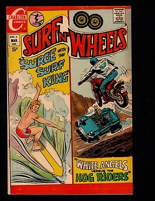 Surf N' Wheels comics from Charlton #1, 3, 5, 6