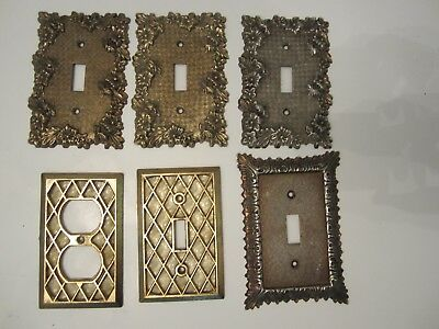 Lot of 6 Hollywood Regency Switch Plate Outlet  Covers