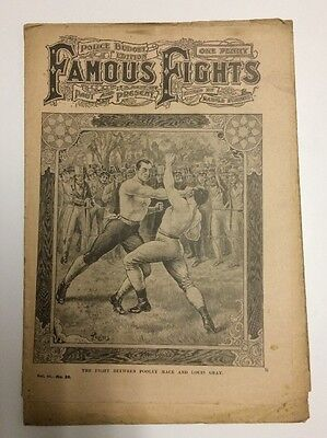 1900s Famous Fights Boxing Newspaper #36 Pooley Mace vs Louis Gray Cover