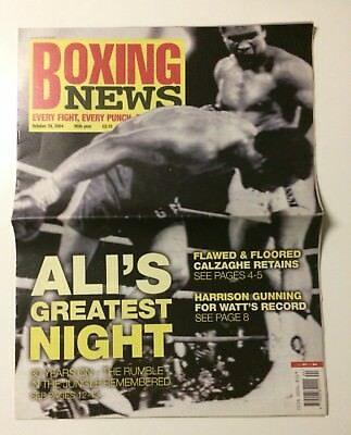 2004 Boxing News Muhammad Ali vs George Foreman Special Rumble In The Jungle