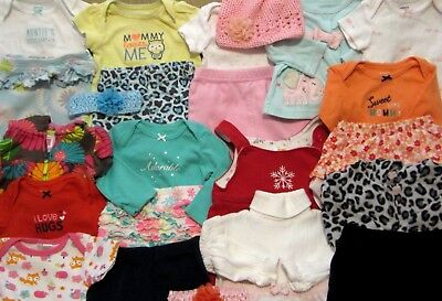 Large Lot size 3-6 6 Month Baby Girl Clothes FALL WINTER Outfits Sets Kufi Hat